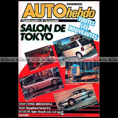 Auto Hebdo N°497 Bmw 635 Csi Gianfranco Brancatelli Daniel Boccard Salon 1985