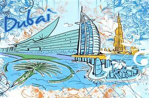 Art-Postcard-Dubai-UAE-Landmarks-City-View-Travel-21i