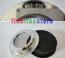 silver EMF AF Confirm M42 lens to Canon EOS adapter 650D 700D 1D 1Ds 5D II + CAP