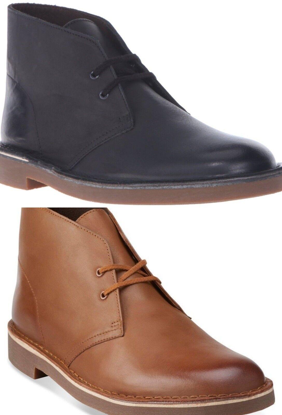 Clarks Bushacre 2 Men's Leather Desert Chukka Boots Medium Dress Boots