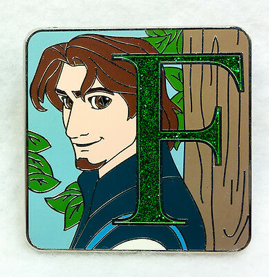 Disney Pin 2015 Mystery Collection ALPHABET F Flynn Rider CHASER LE 400 Tangled