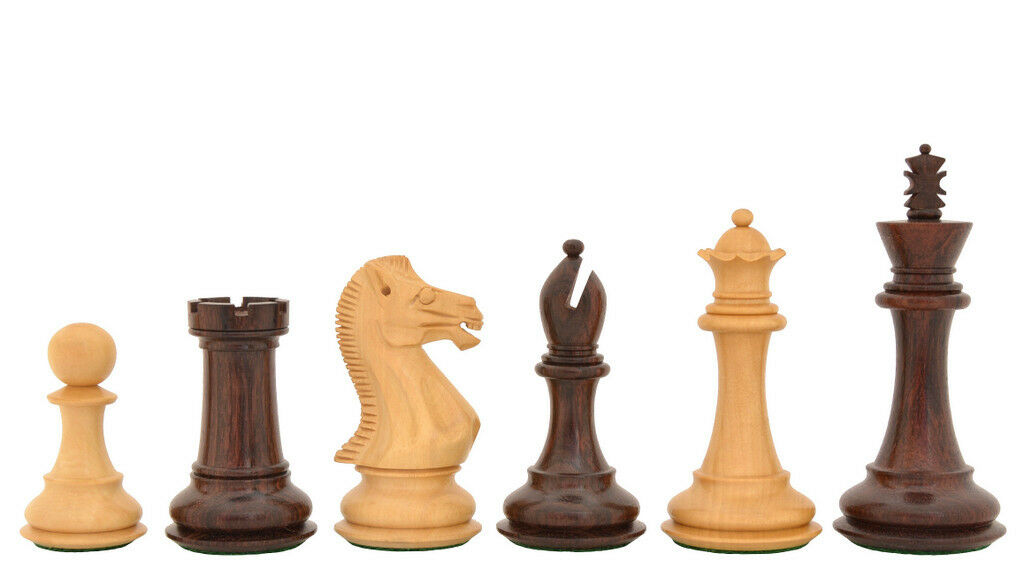 Fierce Knight Stauntn Series Wooden He Crafted Chess Pieces Chessbazaar M0059