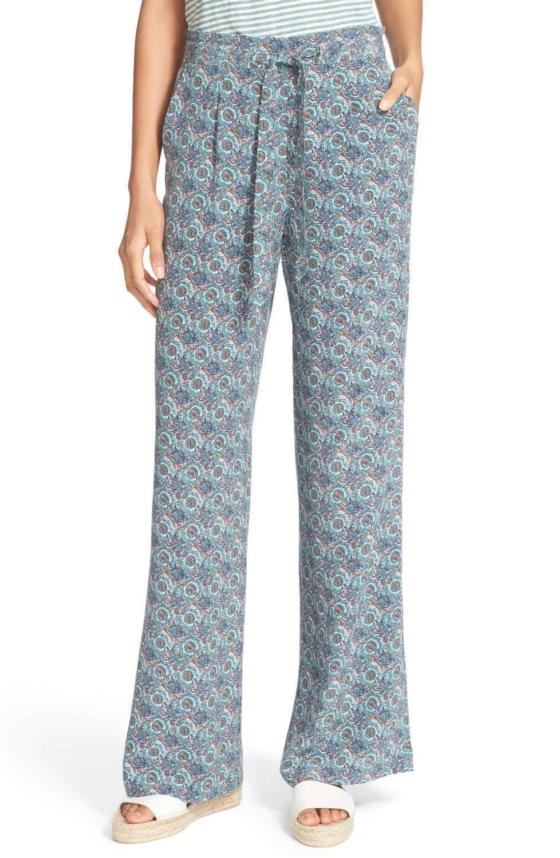 Joie 'Pascha' Print Silk Pants NWT  298   SZ L   C087