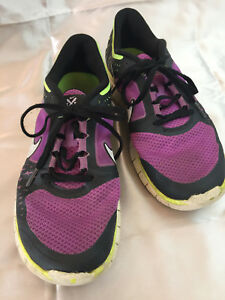 bc0501882918d Women s Nike Free Run 3 5.0 Running Shoes Purple Black Sz 9 Lace Up ...