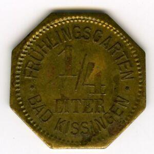 GERMANY-BEER-TOKEN-LITER-BIER-FRUHL-G-BAD-KISSINGEN-NOTMUNZE-C3890