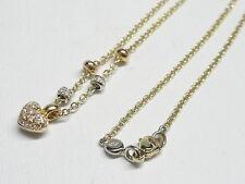 Collana oro giallo 18 kt 750 cuore diamanti 0,33 ct -74/VE-