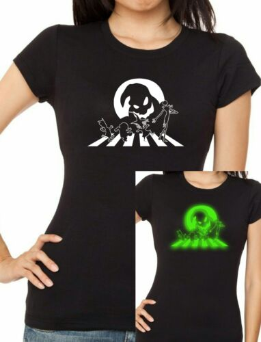 Womens cut NIGHTMARE BEFORE CHRISTMAS Glow-In-The-Dark T-shirt