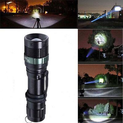 NEW 3000 Lumen Zoomable CREE XM-L Q5 LED Flashlight Torch Zoom Lamp Light Black