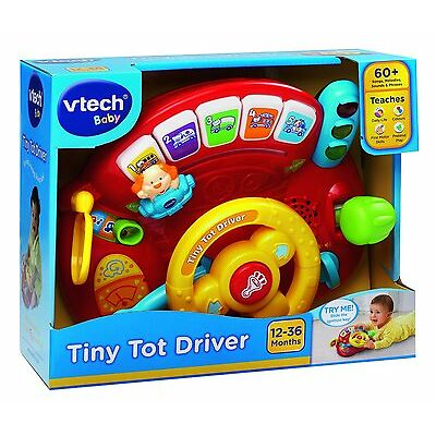 NEW VTECH BABY TINY TOT DRIVER CAR TOY PRETEND PLAY STEERING WHEEL 166603
