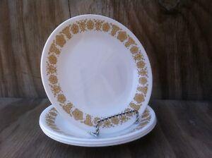 4 Corelle plats papillon or petites b&b ou dessert assiettes Lot de 4-afficher le titre d`origine 4hxXxwGo-09085221-502120244