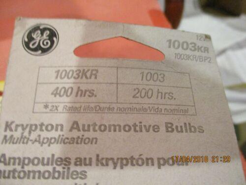 1003KR--GE--LOT-OF--6--KRYPTON LONG-LIFE--Trunk Light Bulb-1003KR//BP2