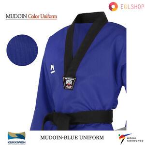 MUDOIN RED Color Taekwondo Uniform WTF Poom TKD Martial Arts MMA Akido WKF