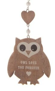 Wooden-Hanging-Owl-Love-You-Forever-Decoration-Shabby-Heart-Mothers-Day-Gift