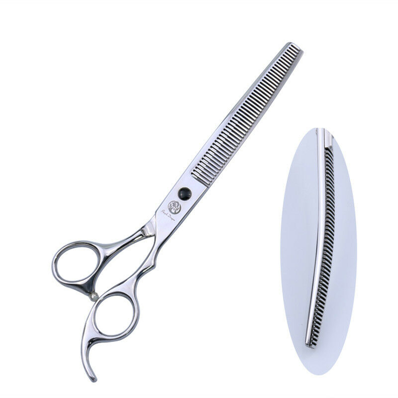 7.5  Professional Pet Grooming Thinning Scissors Dog Hair Downward Curved Shear