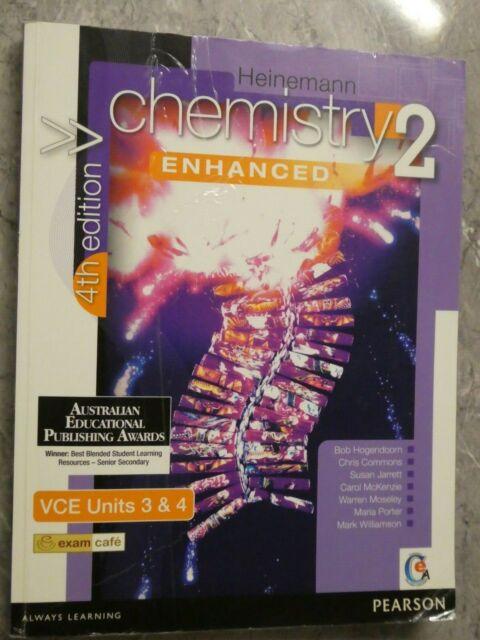 Heinemann Chemistry 2 4th Ed Enhanced VCE Units 3 & 4 Textbook 4e With CD