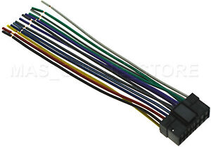 wire harness for sony cdx gt07 cdxgt07 cdx gt09 cdxgt09 pay today rh ebay com Wiring Harness Connectors Sony Car Stereo Wiring Harness
