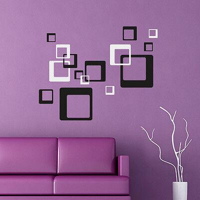 Wandtattoo Retro Cubes Aufkleber Quadrate Dekorset Wall Art Wand Tattoo #2009