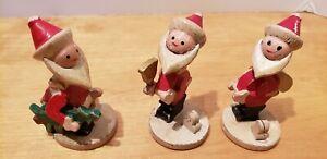 Vintage-Japan-Santa-Claus-Bobble-Head-Wood-Figurines-3