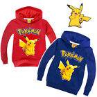 Pikachu Kids Girls Boys Sweatshirt Hoodies Coat Outerwear Tops Pokemon Clothes