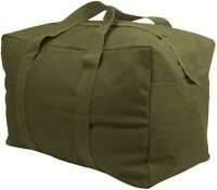 Od Green Heavy Duty Cotton Canvas Parachute Cargo Tote Travel Bag 3123 2