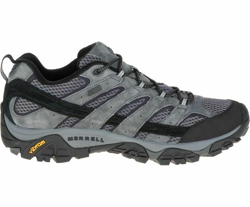 NEW Size 10 Mens Merrell Moab 2 Hiking Shoes in Grey and Black J06029 Sneaker