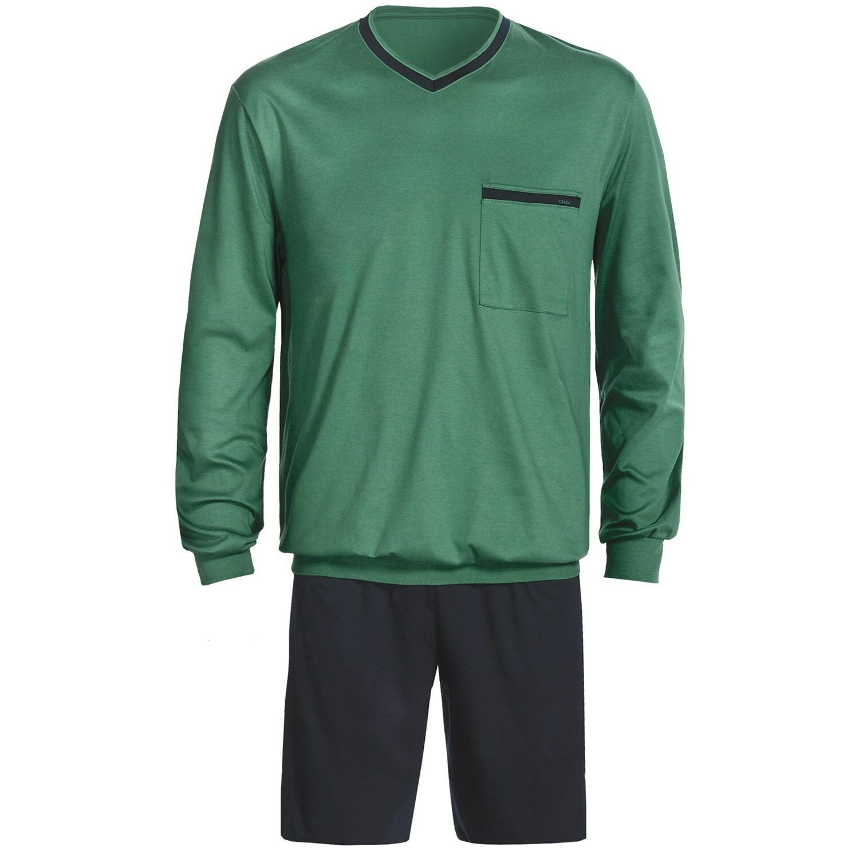 Calida - HERREN - Nwt - Marineblau & Grün Hemd + kurze hose Pyjama