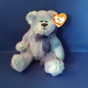 1993 TY Beanie Baby Fuzzy Plush Blue Bear  AZURE  Attic Treasure ... 42ba106a5142