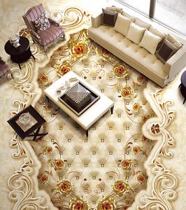 3D Papel De Parojo Patrón simple piso 964 Impresión De Parojo Murales Wallpaper AJ Reino Unido Limón