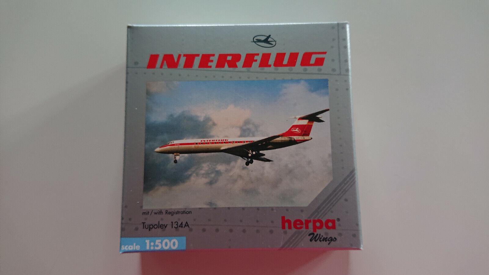 Herpa Wings 1 500 Tupolev TU 134A Interflug OVP