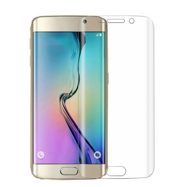 2x Full Cover Curve Tempered Screen Plastic tector for Samsung Galaxy S7 EdgeP