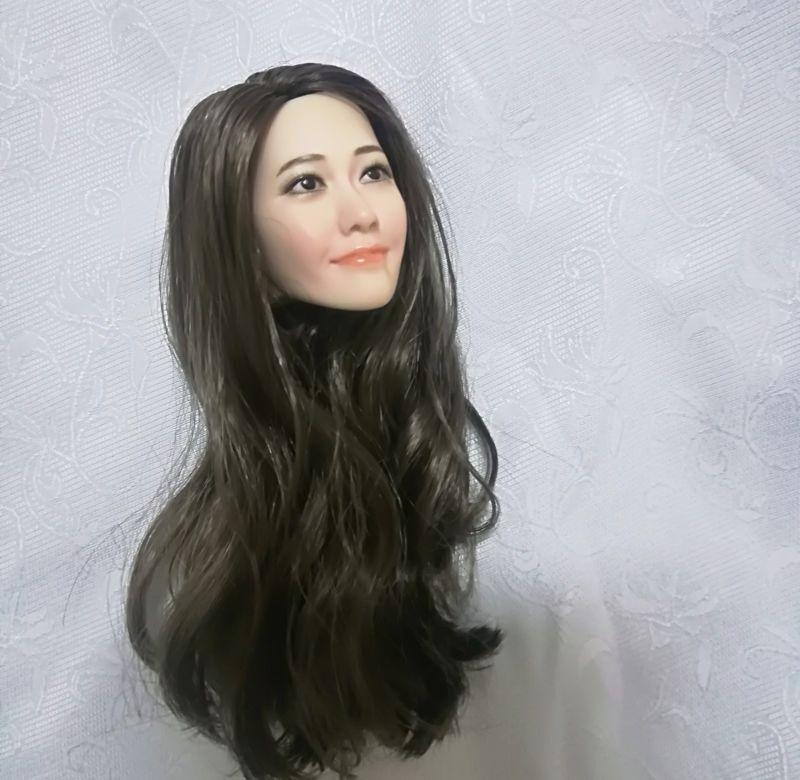 1   6 lim yoon ein lockenkopf kopf sculpt f ph tbleague weibliche blasse haut finden leiche