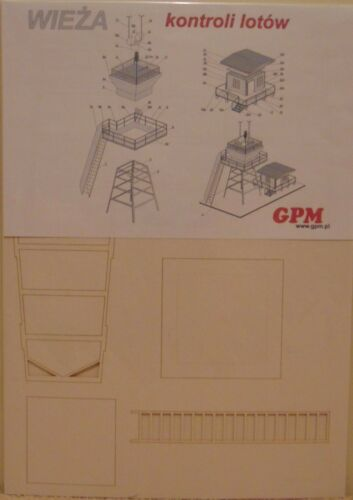 NEW Airfield Control Tower  1:144 scale Control Tower Model Kit LASERCUT PARTS