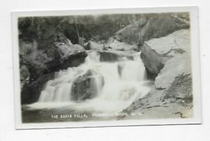 Vintage-RPPC-Postcard-THE-BASIN-FALLS-Franconia-Notch-NH-R173