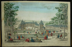 Print-18th-c1770-Field-Castle-Of-Grosbois-Boissy-Saint-Leger-Chez-Daumont