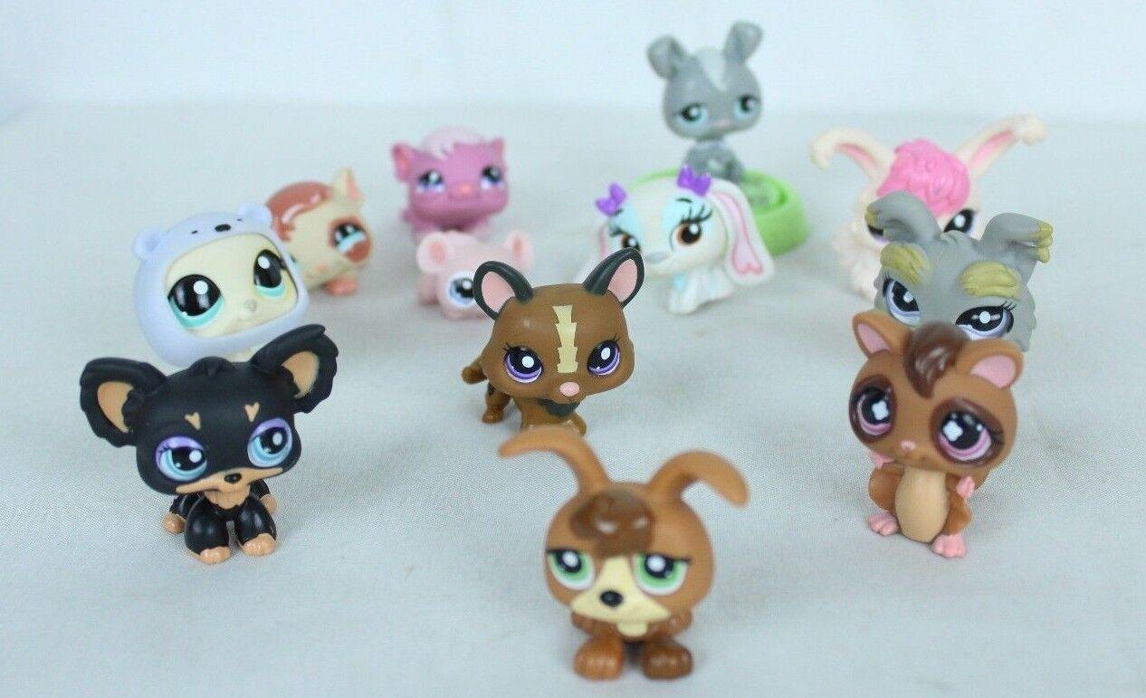 Littlest Pet Shop LPS Mixed Lot 12 Pcs Assorted Figures