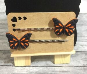 Cute Monarch Butterfly Decorative Bobbie Pins Hair Pin Hair Charm Accessories