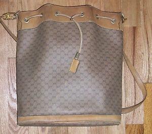 6454c209087 Image is loading Vintage-Gucci-Drawstring-Bucket-Shoulder-Bag-Handbag-Purse