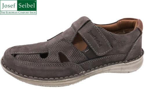 Josef Seibel Herren Schuh Anvers 81 Grau Leder Weite K Slipper NEU 43635-700