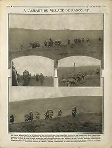 """Poilus Bataille de la Somme Ruines Village de Rancourt Péronne France 1916 WWI - France - Commentaires du vendeur : """"OCCASION"""" - France"""