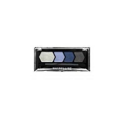 MAYBELLINE EYESTUDIO DIAMOND GLOW QUAD EYESHADOW 10 BLUE DRAMA  NEW SEALED