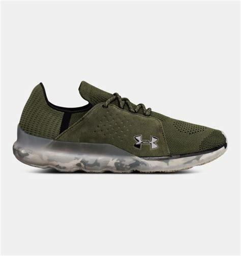 New Under Armour Reveal knit running shoes Uomo sz 11 threadborne OLIVE GREEN