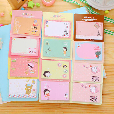 Memo Cute Cartoon Post It Bookmark Point Marker Flag Index Pads Tab Sticky Notes