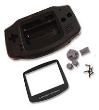 Gameboy Game Boy Advance GBA Black Shell Case Housing w Screen & Tools UK