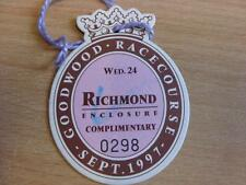 24/09/1997 Goodwood Races - Horse Racing Badge (good condition with no apparent