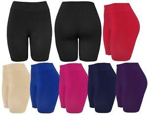 Women-039-s-Slip-Shorts-Seamless-Biker-Bermuda-Shorts