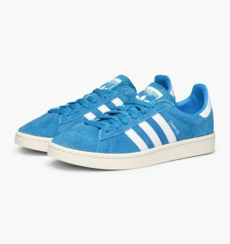 Adidas Originals Campus Aqua Blue White Suede Men Classic Shoes