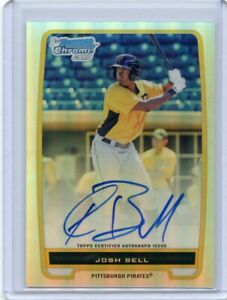 2012-Bowman-Chrome-Refractor-Josh-Bell-Auto-RC-Rookie-Card-261-500-Autograph