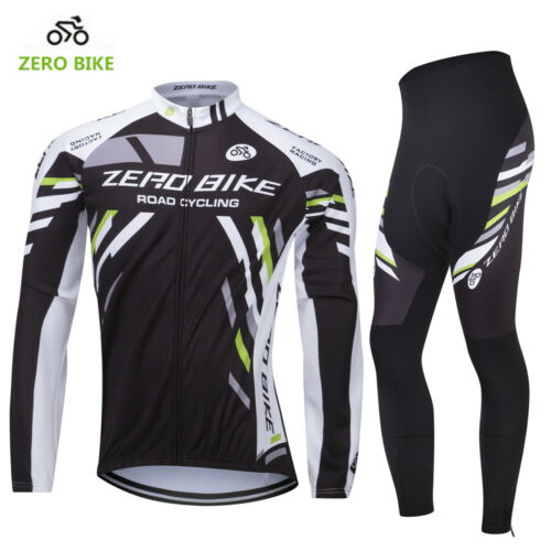 Cycling Bike Long Sleeve Clothing Set Bicycle Men/'s Jersey/&Pants Thermal Fleece