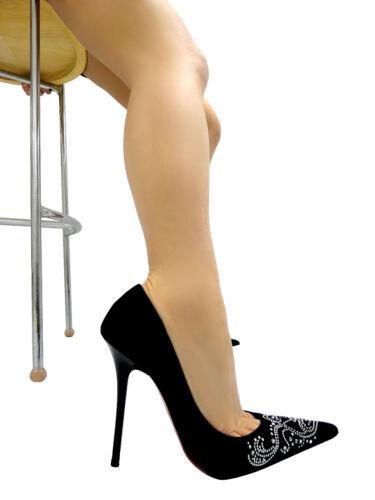 Italy pointus hauts Escarpins Nero Talons Cristal Mori Sexy Schuhe Noir Cuir 40 TxEwqOd6
