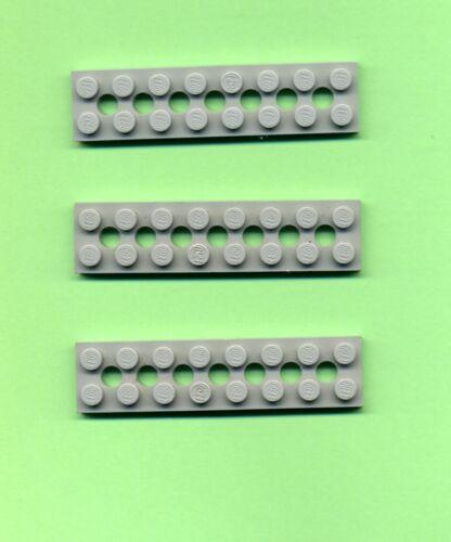 2 x 8 3738 tecnologia 7 fori foro solaio LEGO Grigio//Oldgray 3 PEZZI